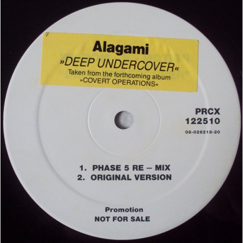 """Alagami - Deep Undercover, 12"""", Single Sided, Promo"""