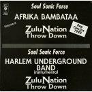 "Soul Sonic Force, Afrika Bambataa / Harlem Underground Band - Zulu Nation Throw Down (Volume #2), 12"", Reissue"