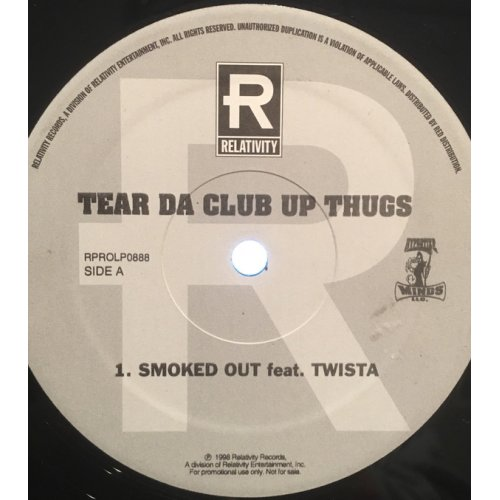 """Tear Da Club Up Thugs - Smoked Out / Throw Your Sets Up, 12"""", Promo"""