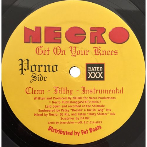 Necro - Get On Your Knees / Underground, 12""