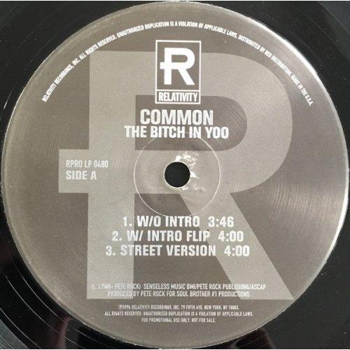 "Common / No I.D. - The Bitch In Yoo / The Real Weight, 12"", Promo"