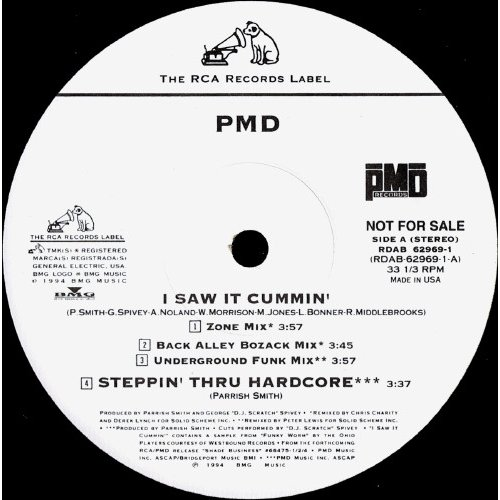 PMD - I Saw It Cummin', Promo, 12""