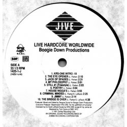 Boogie Down Productions - Live Hardcore Worldwide, LP, Promo
