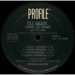 "DJ Quik - Hand In Hand / The P***y Medley, 12"", Promo"