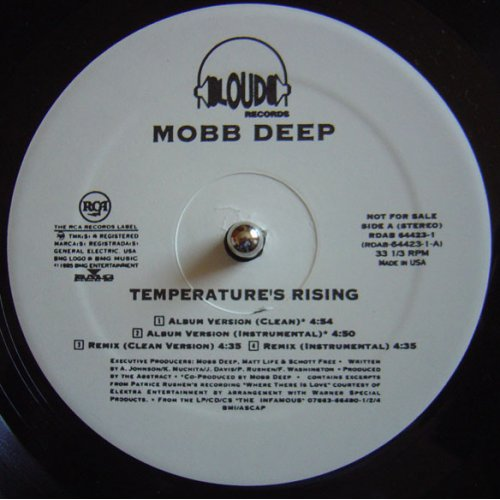 """Mobb Deep - Temperature's Rising / Still Shinin', 12"""", Promo"""