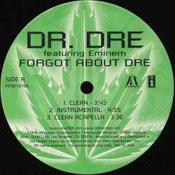 "Dr. Dre Featuring Eminem - Forgot About Dre, 12"", Promo"
