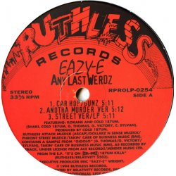 "Eazy-E - Any Last Werdz, 12"", Promo"