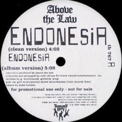 "Above The Law - Endonesia, 12"", Promo"