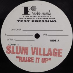 "Slum Village - Raise It Up, 12"", Test Pressing"