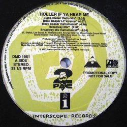 "2Pac - Holler If Ya Hear Me, 12"", Promo"