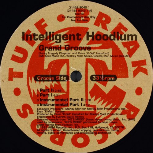 "Intelligent Hoodlum - Grand Groove / At Large, 12"", Promo"