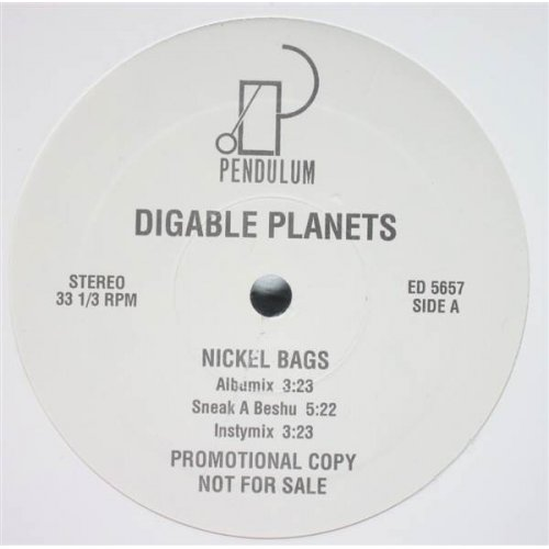 "Digable Planets - Nickel Bags / Appointment At The Fat Clinic, 12"", Promo"