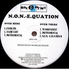 """N.O.N.-E.Quation - Hypoetix, 12"""""""