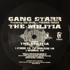 "Gang Starr - The Militia, 12"", Promo"