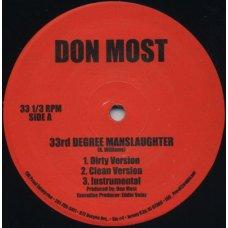 """Don Most - 33rd Degree Manslaughter / Forsaken, 12"""""""
