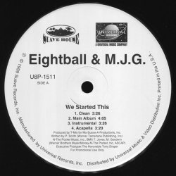 "Eightball & M.J.G. - We Started This / Don't Flex, 12"", Promo"