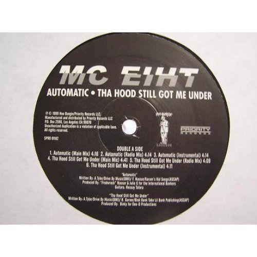 "MC Eiht - Automatic / Tha Hood Still Got Me Under, 12"", Promo"