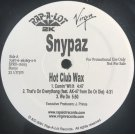 "Snypaz - Hot Club Wax, 12"", Promo"