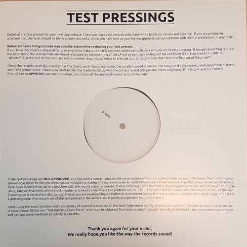 Machacha - NikMedNakkenMusik, LP, Test Pressing