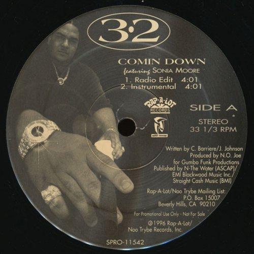 """3-2 - Comin Down, 12"""", Promo"""