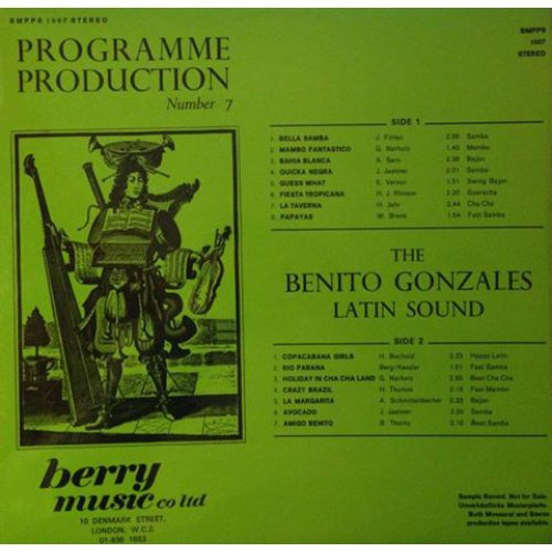 The Benito Gonzales Latin Sound - Programme Production Number 7, LP
