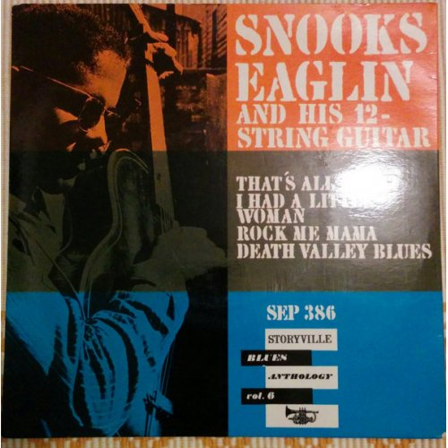 """Snooks Eaglin - Snooks Eaglin And His 12-String Guitar , 7"""", EP"""