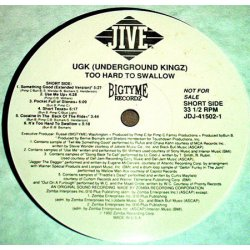 UGK - Too Hard To Swallow, LP, Promo