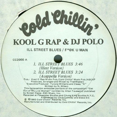 """Kool G Rap & DJ Polo - Ill Street Blues / F*@K U Man, 12"""", Promo"""