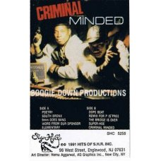 Boogie Down Productions - Criminal Minded, Cassette, Reissue