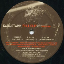 """Gang Starr - Full Clip / DWYCK, 12"""", Promo"""