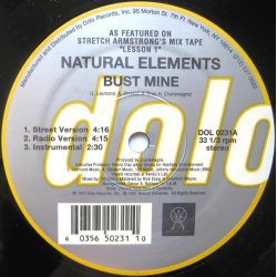 """Natural Elements - Bust Mine / Paper Chase, 12"""""""