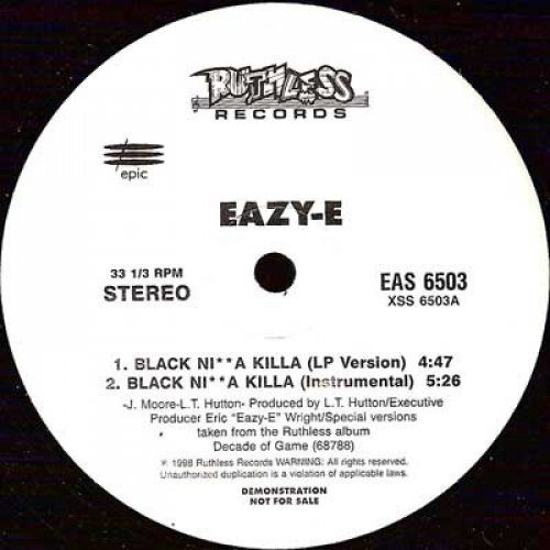 "Eazy-E - Black Ni**a Killa, 12"", Promo"