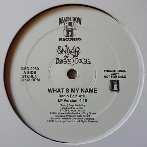 """Snoop Doggy Dogg - What's My Name?, 12"""", Promo"""