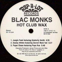 "Blac Monks - Hot Club Wax, 12"", Promo, Sampler"
