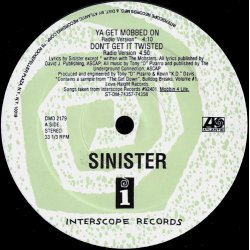 """Sinister - Mobbin 4 Life, 12"""", Sampler"""