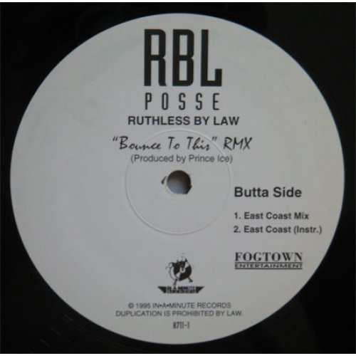 """RBL Posse - Bounce To This RMX, 12"""""""