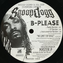 "Snoop Dogg - B-Please, 12"", Promo"