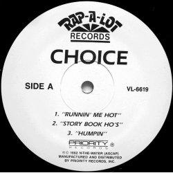"""Choice - Runnin' Me Hot, 12"""", Sampler"""