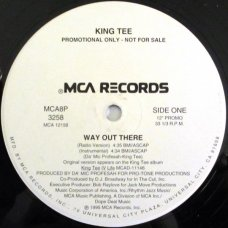 "King Tee - Way Out There, 12"", Promo"