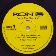 "Ron ""C"" - It's Going Down / Freak Of Da Week / Pager, 12"""
