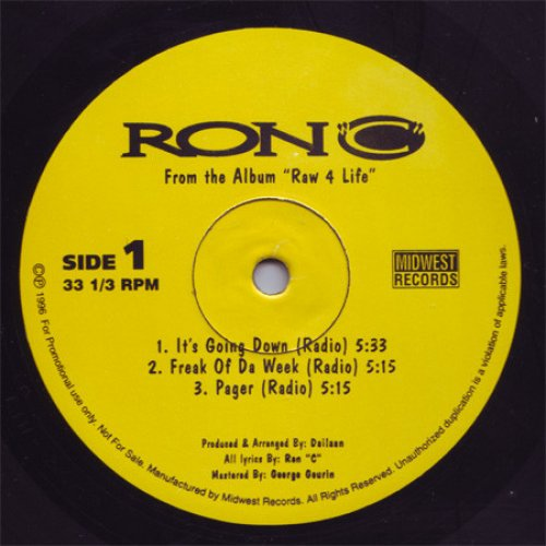 """Ron """"C"""" - It's Going Down / Freak Of Da Week / Pager, 12"""""""