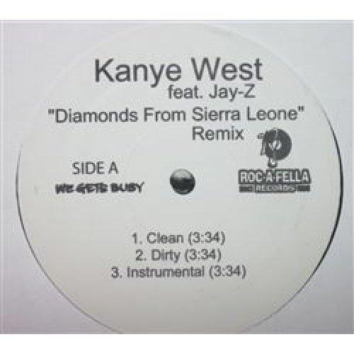 "Kanye West Featuring Jay-Z - ""Diamonds From Sierra Leone"" Remix, 12"""