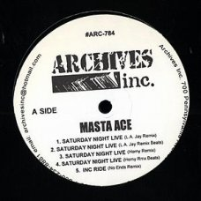 "Masta Ace - Saturday Night Live (Remixes), 12"""