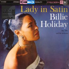 Billie Holiday With Ray Ellis And His Orchestra - Lady In Satin, LP, Reissue, Stereo
