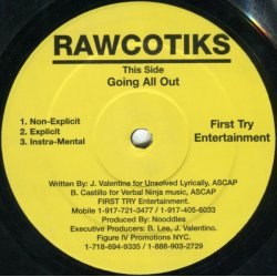 """Rawcotiks - Going All Out, 12"""""""