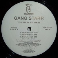 """Gang Starr - You Know My Steez, 12"""", Promo"""