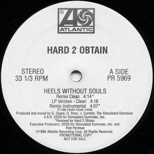 """Hard 2 Obtain - Heels Without Souls, 12"""", Promo"""