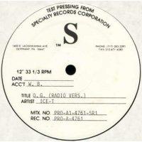 "Ice-T - O.G. Original Gangster, 12"", Test Pressing"