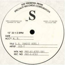 "Ice-T - O.G. Original Gangster, 12"", Test Pressing"