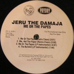 """Jeru The Damaja - Me Or The Papes, Promo, 12"""""""